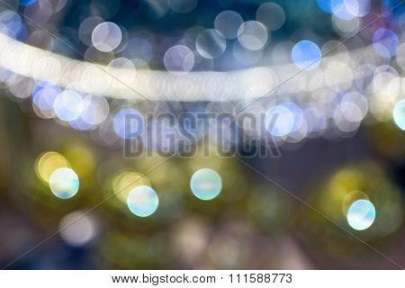 Abstract Sparkling And Glaring Spotty Blur Background