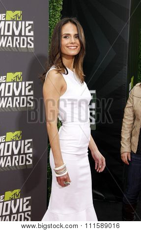 CULVER CITY, CA - APRIL 14, 2013: Jordana Brewster at the 2013 MTV Movie Awards held at the Sony Pictures Studios in Culver City, CA on April 14, 2013.