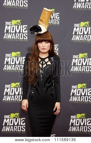 CULVER CITY, CA - APRIL 14, 2013: Hana Mae Lee at the 2013 MTV Movie Awards held at the Sony Pictures Studios in Culver City, CA on April 14, 2013.