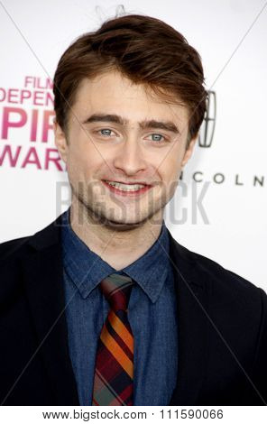 Daniel Radcliffe at the 2013 Film Independent Spirit Awards held at the Santa Monica Beach in Los Angeles, United States on February 23, 2013.