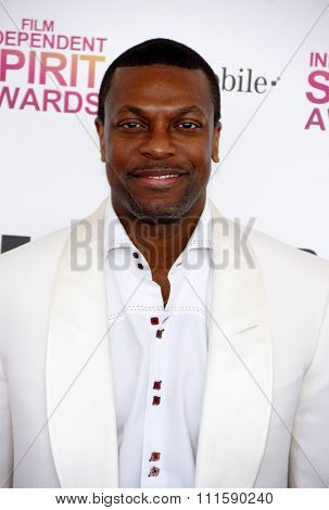 Chris Tucker at the 2013 Film Independent Spirit Awards held at the Santa Monica Beach in Los Angeles, United States on February 23, 2013.