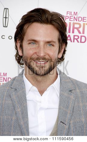 Bradley Cooper at the 2013 Film Independent Spirit Awards held at the Santa Monica Beach in Los Angeles, United States on February 23, 2013.