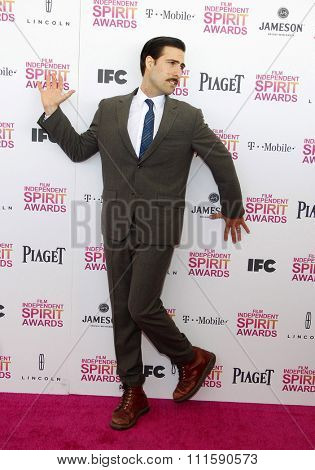 Jason Schwartzman at the 2013 Film Independent Spirit Awards held at the Santa Monica Beach in Los Angeles, United States on February 23, 2013.