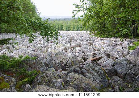 Big stone river. Taganay. Southern Urals-2
