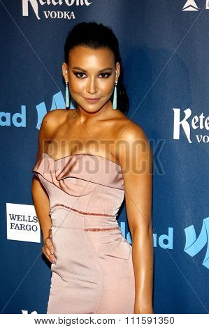 Naya Rivera at the 24th Annual GLAAD Media Awards held at the JW Marriott Los Angeles at L.A. LIVE in Los Angeles, USA on April 20, 2013.