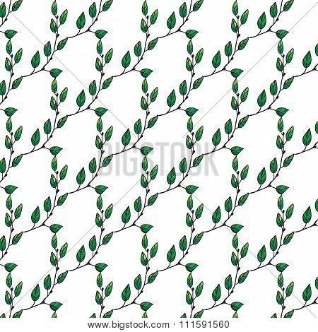 Liana Leaf Green Pattern