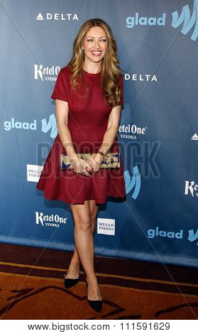 Rebecca Gayheart at the 24th Annual GLAAD Media Awards held at the JW Marriott Los Angeles at L.A. LIVE in Los Angeles, USA on April 20, 2013.