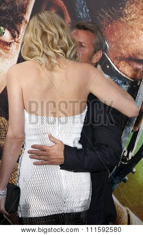 Charlize Theron and Sean Penn at the Los Angeles premiere of 'Mad Max: Fury Road' held at the TCL Chinese Theatre IMAX in Hollywood, USA on May 7, 2015.