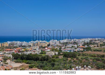 A Panoramic View Of Protaras, Cyprus