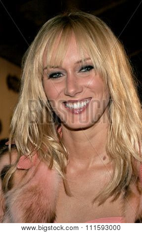 10/17/2005. Kimberly Stewart attends the Usher Host Truth Tour DVD Launch Party at the Hollywood Roosevelt Hotel in Hollywood, CA, USA.
