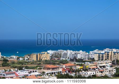 A Panoramic View Of Protaras, Cyprus