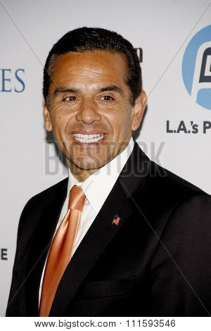 HOLLYWOOD, CALIFORNIA - September 27, 2011. Los Angeles Mayor Antonio Villaraigosa at the LA's Promise 2011 Gala held at the Kodak Theatre, Los Angeles.