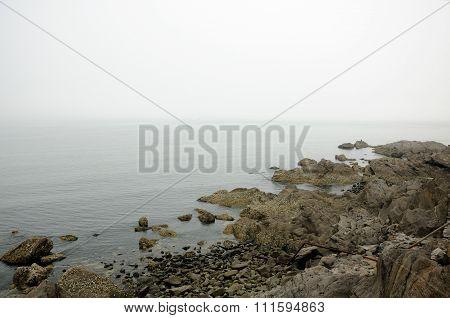 Yantai China Rocky Coast