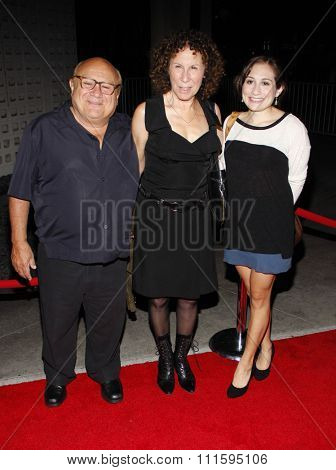 Danny DeVito, Rhea Perlman and Lucy DeVito at the Los Angeles premiere of FX's 'It's Always Sunny In Philadelphia' held at the ArcLight Cinemas in Hollywood, USA on September 13, 2011.