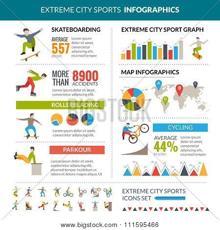 Extreme City Sports Infographics