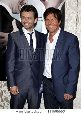 HOLLYWOOD, CALIFORNIA - May 18, 2010. Michael Sheen and Dennis Quaid at the Los Angeles premiere of 'The Special Relationship' held at the Director's Guild of America in Hollywood.