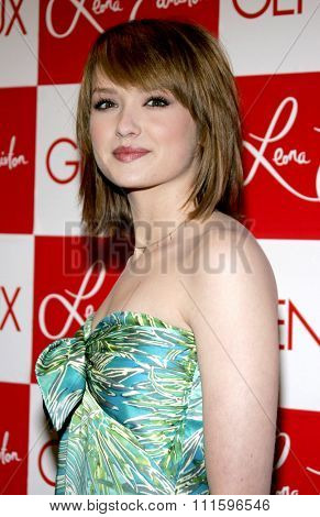 Kaylee DeFer attends the Leona Edmiston Frock Gallery Opening held at the Frock Boutique On Sunset Strip in West Hollywood, California on March 14, 2006.