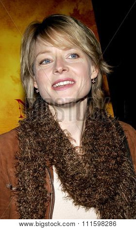 HOLLYWOOD, CALIFORNIA. February 7, 2006. Jodie Foster attends the Los Angeles Premiere of