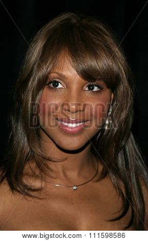 BEVERLY HILLS, CALIFORNIA. May 19, 2005. Spirit of Compassion Award recipient Toni Braxton attends at the Triumph of the Spirit Awards Gala at the Beverly Hilton Hotel in Beverly Hills.