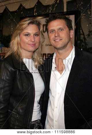 HOLLYWOOD, CALIFORNIA. October 17, 2005. Kelly Perdew and girlfriend at the Los Angeles Premiere of