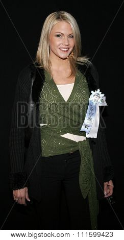 HOLLYWOOD, CALIFORNIA. November 27, 2005. Emily Harper attends the 2005 Hollywood Christmas Parade at the Hollywood Roosevelt Hotel in Hollywood, California United States.