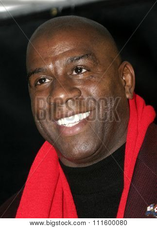 Magic Johnson at the 73rd Annual Hollywood Christmas Parade 2004 held at the Roosevelt Hotel in Hollywood, USA on November 28, 2004.