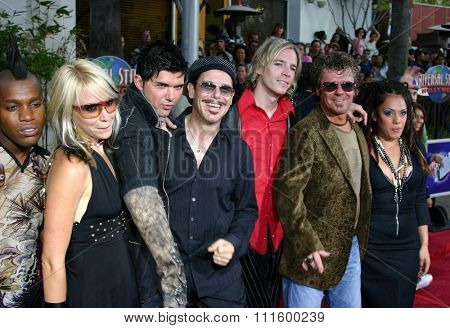 UNIVERSAL CITY, CALIFORNIA. August 2, 2005. INXS and cast members of 'Rock Star' at the