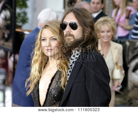 UNIVERSAL CITY, CALIFORNIA. August 2, 2005. Kate Hudson and husband Chris Robinson attend at the