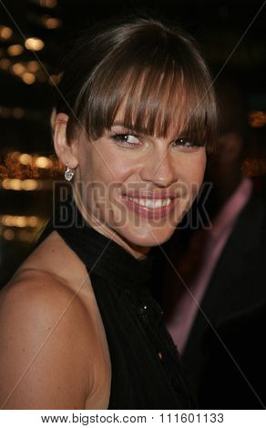 WESTWOOD, CALIFORNIA. January 4, 2007. Hilary Swank at the Los Angeles of