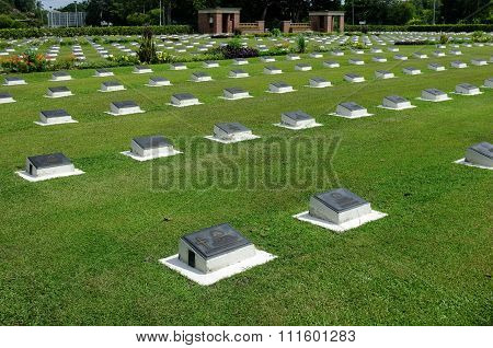 Labuan War Cemetery is about two miles (3.2 km) from Victoria (Labuan).
