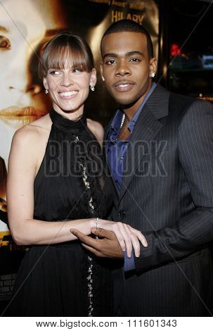 WESTWOOD, CALIFORNIA. January 4, 2007. Hilary Swank and Mario attend the Los Angeles of