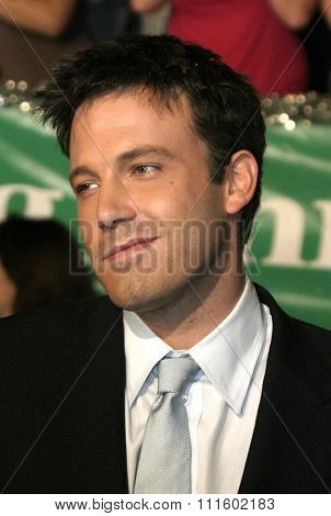 Ben Affleck at the Los Angeles premiere of 'Surviving Christmas' held at the Grauman's Chinese Theatre in Hollywood, USA on October 14, 2004.