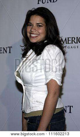 HOLLYWOOD, CALIFORNIA - June 11, 2005. America Ferrera attends at the 19th Annual Fulfillment Fund