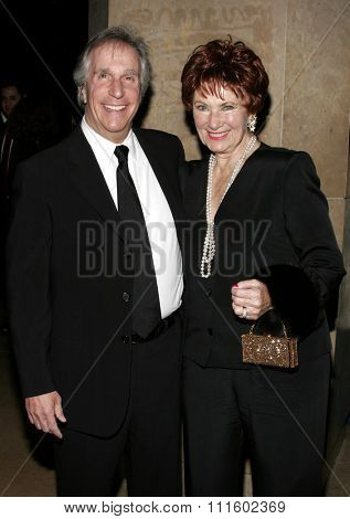 BEVERLY HILLS, CALIFORNIA. February 19, 2006. Henry Winkler and Marion Ross attend the 56th Annual ACE Eddie Awards held at the Beverly Hilton hotel in Beverly Hills, California United States.