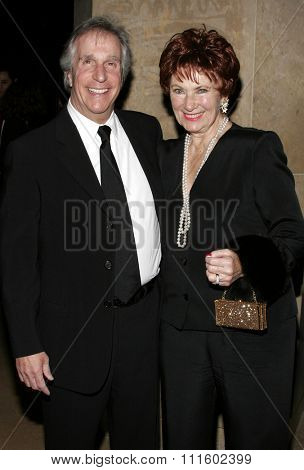 02/19/2006 - Beverly Hills - Henry Winkler and Marion Ross attend the 56th Annual ACE Eddie Awards held at the Beverly Hilton Hotel in Beverly Hills, California, United States.
