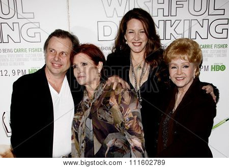 Carrie Fisher, Joely Fisher, and Debbie Reynolds at the Los Angeles Premiere of