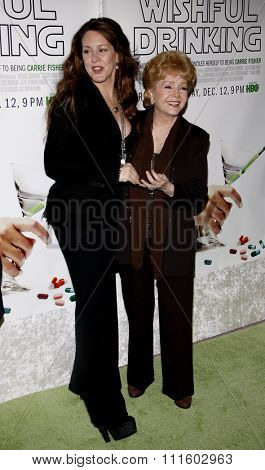 Debbie Reynolds and Joely Fisher at the Los Angeles Premiere of