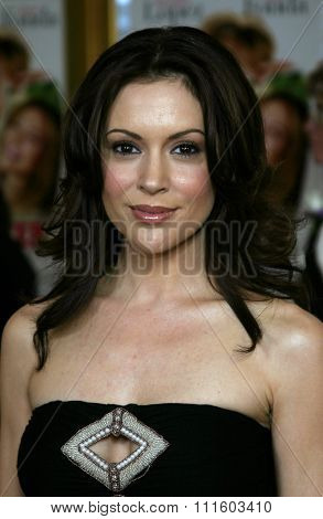 WESTWOOD. CALIFORNIA. April 29, 2005. Alyssa Milano attends at the Los Angeles Premiere of