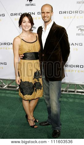 HOLLYWOOD, CALIFORNIA. September 5, 2006. Sasha Alexander and Edoardo Ponti attend the Los Angeles Premiere of
