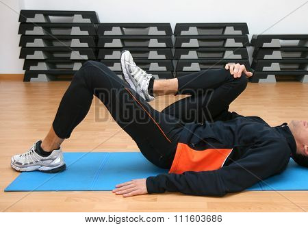 Man Doing Postural Exercises