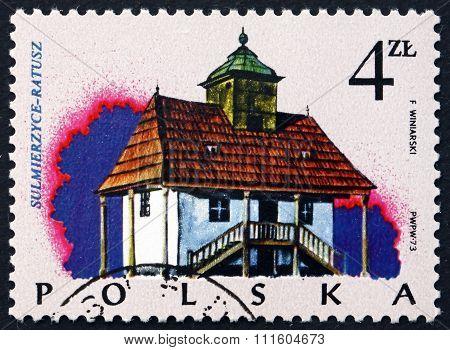 Postage Stamp Poland 1974 Town Hall, Sulmierzyce