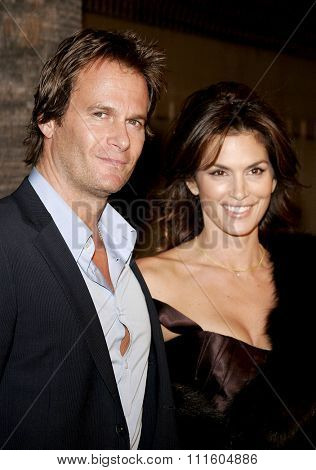 HOLLYWOOD, CALIFORNIA. December 4, 2006. Cindy Crawford and Rande Gerber at the Los Angeles Premiere of