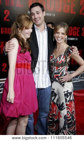 BUENA PARK, CALIFORNIA. October 8, 2006. Amber Tamblyn, Freddie Prinze Jr. and Sarah Michelle Gellar at the World Premiere of