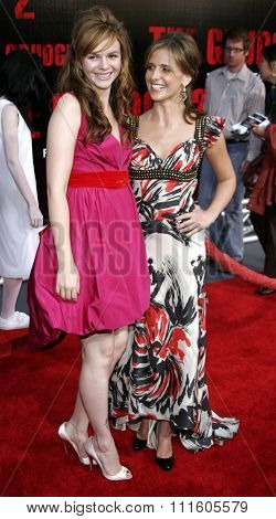 BUENA PARK, CALIFORNIA. October 8, 2006. Amber Tamblyn and Sarah Michelle Gellar at the World Premiere of