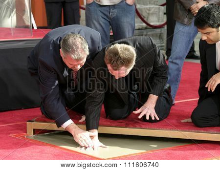 Christopher Walken Honored With A Hand & Footprints Ceremony held at the Grauman's Chinese Theatre in Hollywood, USA on October 8, 2004.