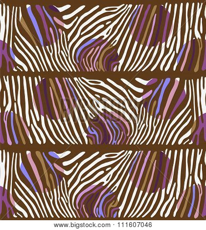 Background with colorful Zebra skin