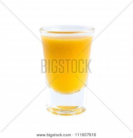 Nutrition Carrots Juice Shot Glass
