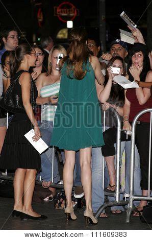 HOLLYWOOD, CALIFORNIA. September 13, 2006. Jacinda Barrett at the Los Angeles Premiere of