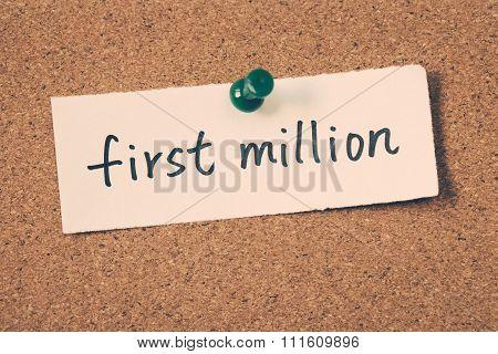 First Million
