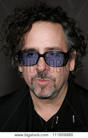 HOLLYWOOD, CALIFORNIA. October 16, 2006. Tim Burton attends the World Premiere of